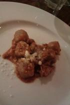 Chestnut gnocchi with wild boar ragú.