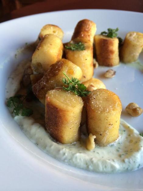 De Silva's Parisian Brown Butter Gnocchi With Chervil Mascarpone. courtesy of Taproom On 19th.