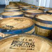 Double Nickel's stout and rye ale are currently aging in these barrels.