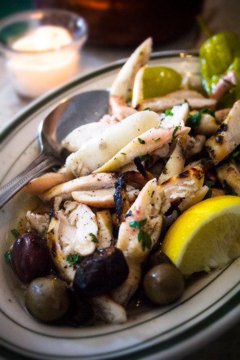 Grilled octopus at Dmitri's (3rd & Catherine). by Jacki Philleo.
