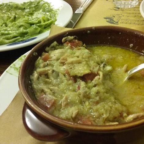Anchovies soup. Osteria di Vico Palla; Genoa, Italy.