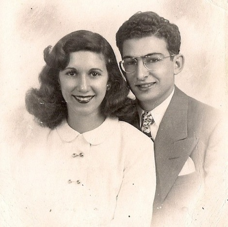 Antoinette (nee Cappuccio) & Harry Crimi's 1947 engagement photo. Courtesy of Cappuccio's Meats.