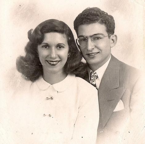 Antoinette (nee Cappuccio) & Harry Crimi's 1947 engagement photo. Courtesy of Cappuccio's Meats.