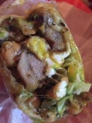 Lamb bacon burrito at Heffe.